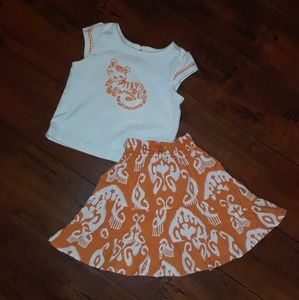 Gymboree girls 2pc Set Tiger Outfit 12-18mos